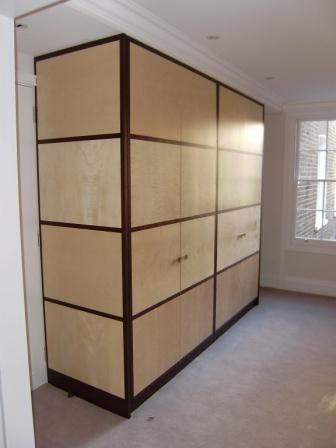 Sycamore and Wenge veneered wardrobes