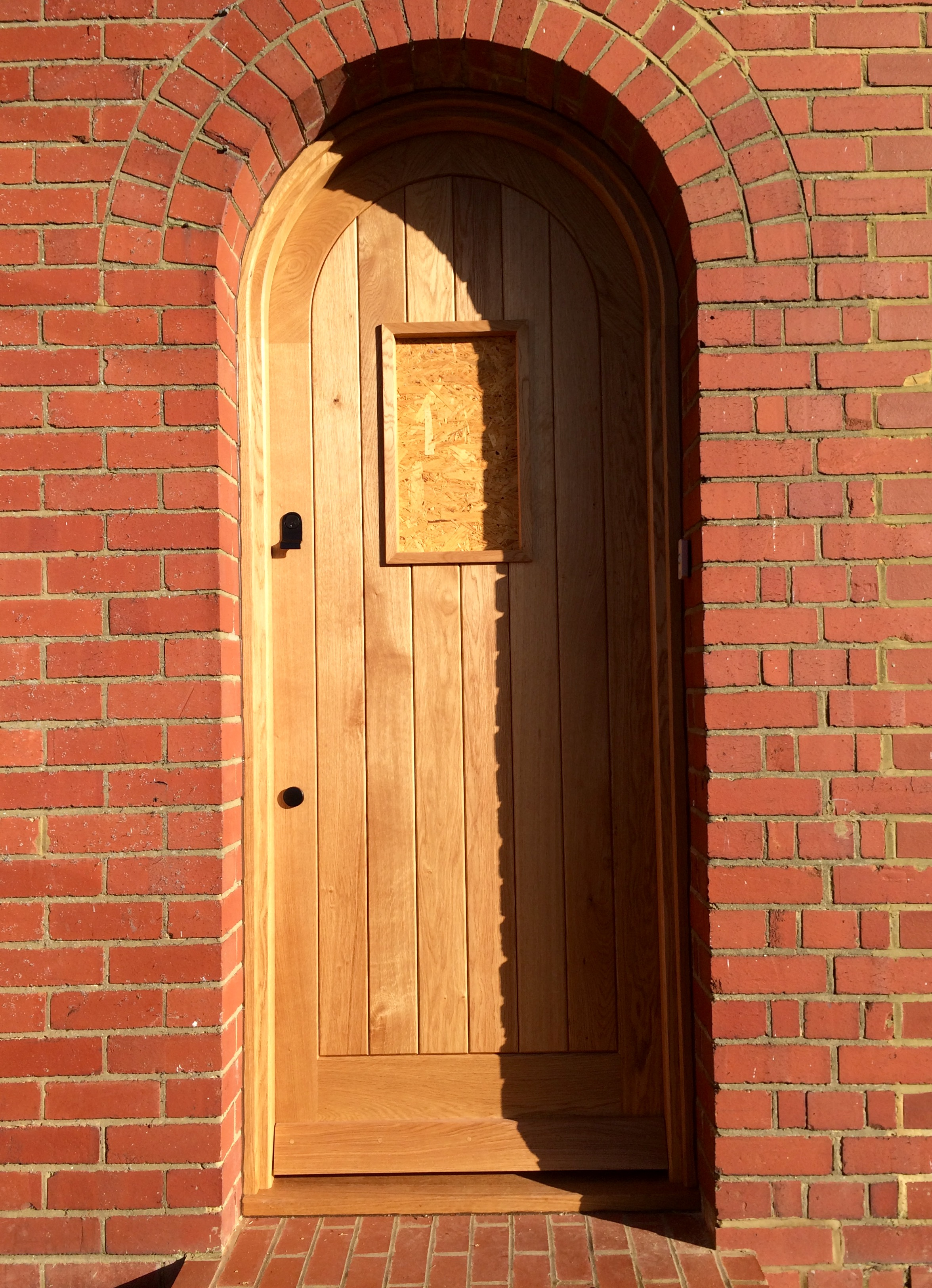 Solid Oak front door.