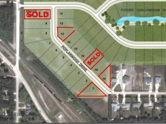SOLD: 83 Poplarwood & 116 Poplarwood Drive in Warren Manitoba!! Connection Homes purchased these fabulous lots (90'x154' & 90'x233') & we will be custom building houses on these lots very soon! We can build a 1259 SqFt 3 Bed Bilevel (loaded to the 9's) for $329,900 incl land & GST, with a  5 month possession!! WOW!!! Scroll to the right to check out the front elevation of the house!