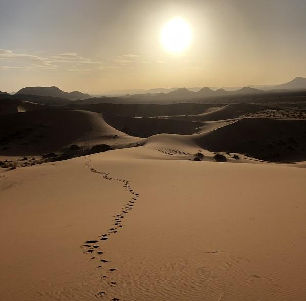 A Sahara sunset….