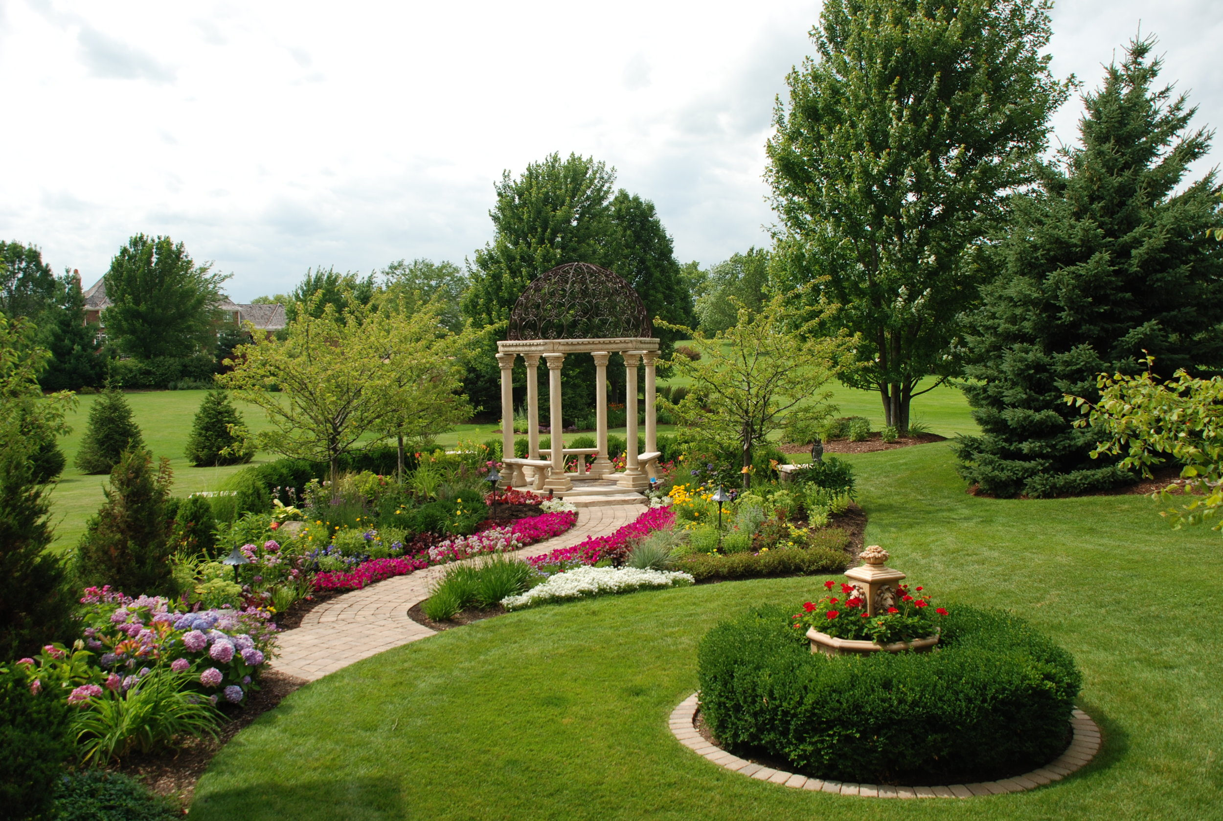 Landscape design after renovation in St Charles, IL