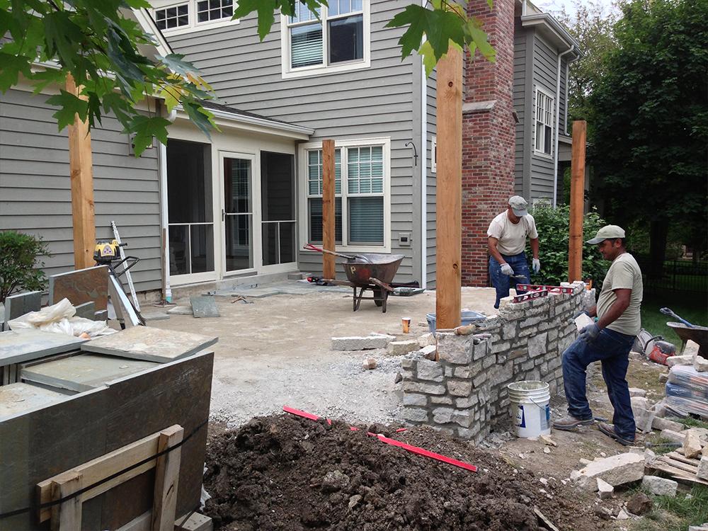 Landscape construction in Batavia, IL