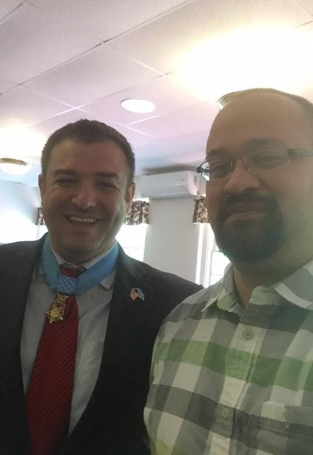 Medal of Honor recipient Leroy Petry and Steve Aguilar