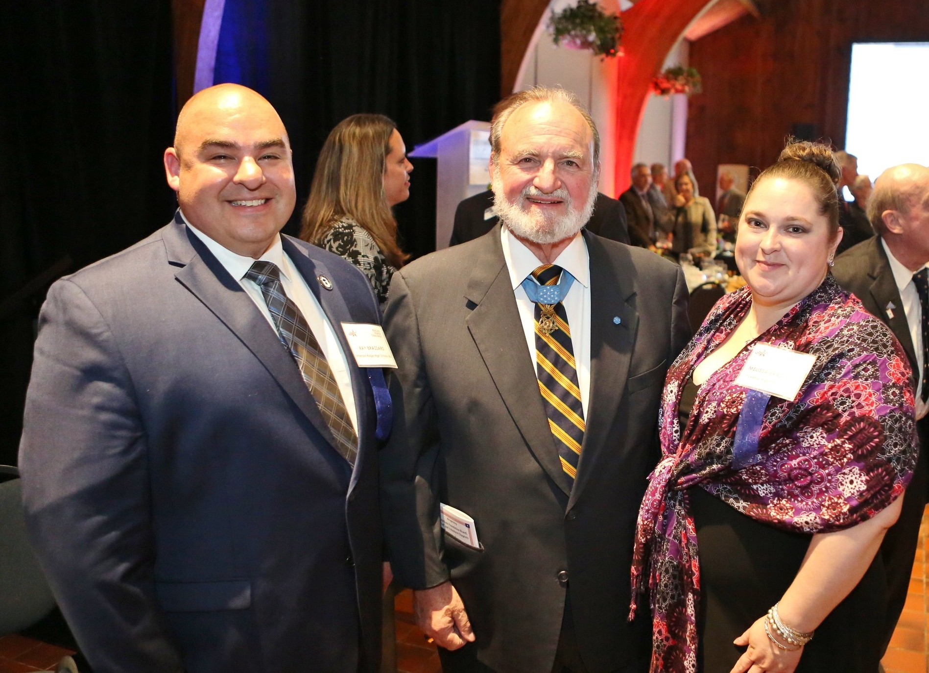 Ray and Melissa Brassard with Medal of Honor recipient Brian Thacker (photo by Freedoms Foundation at Valley Forge)