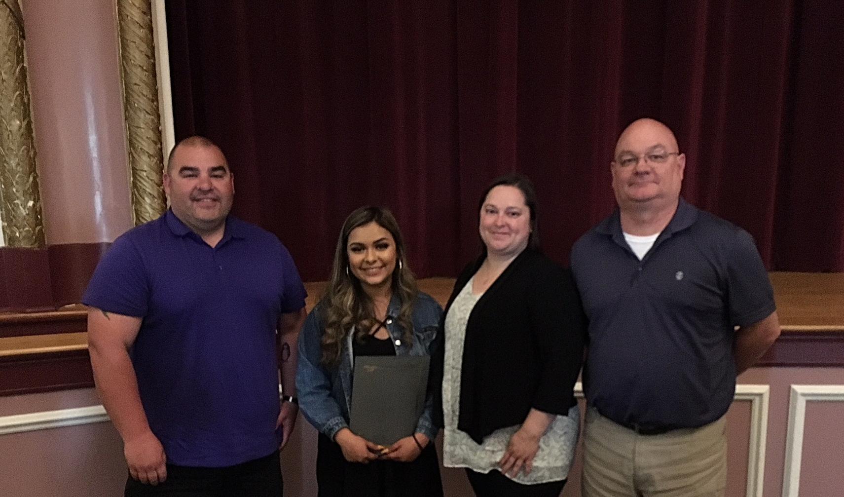 Ray Brassard, Melissa Borrayo Garcia (2018 Puyallup HS Scholarship recipient), Melissa Brassard, and Tracy Cutler