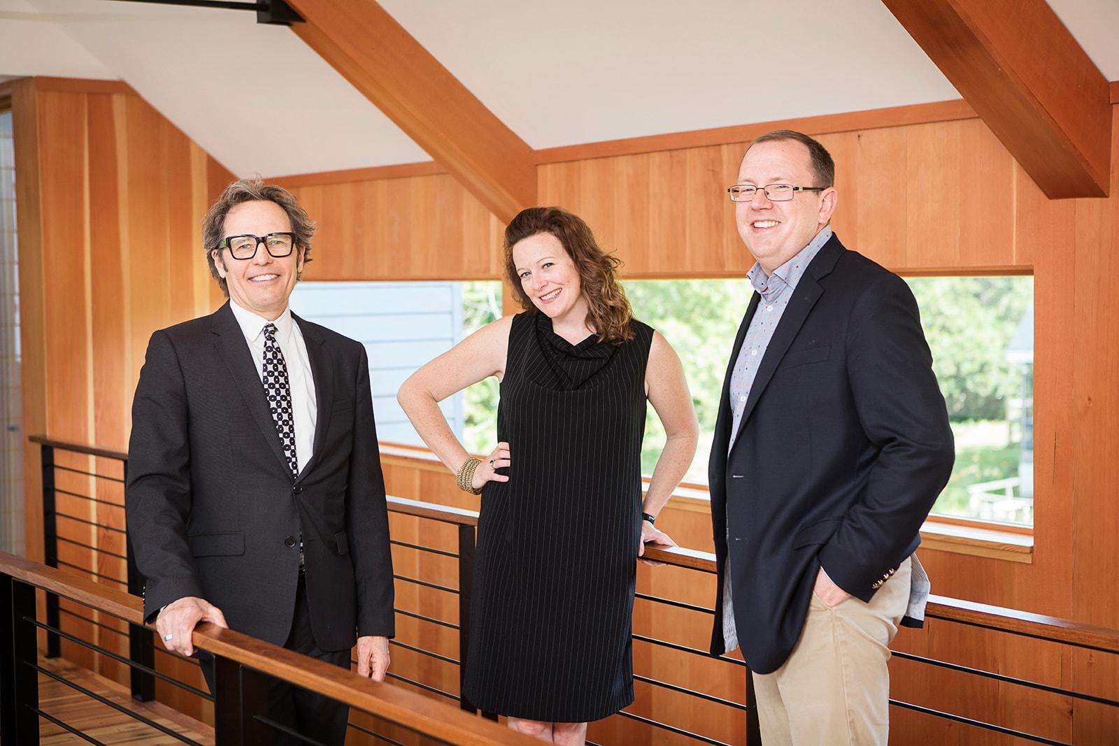 Randall Kipp, Lauren Davenport, and Keith Meberg