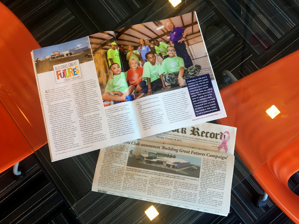 The Local Scoop Magazine  and the  Rappahannock Record  recently shared the news that the Boys and Girls Club of the Northern Neck is renovating and expanding!