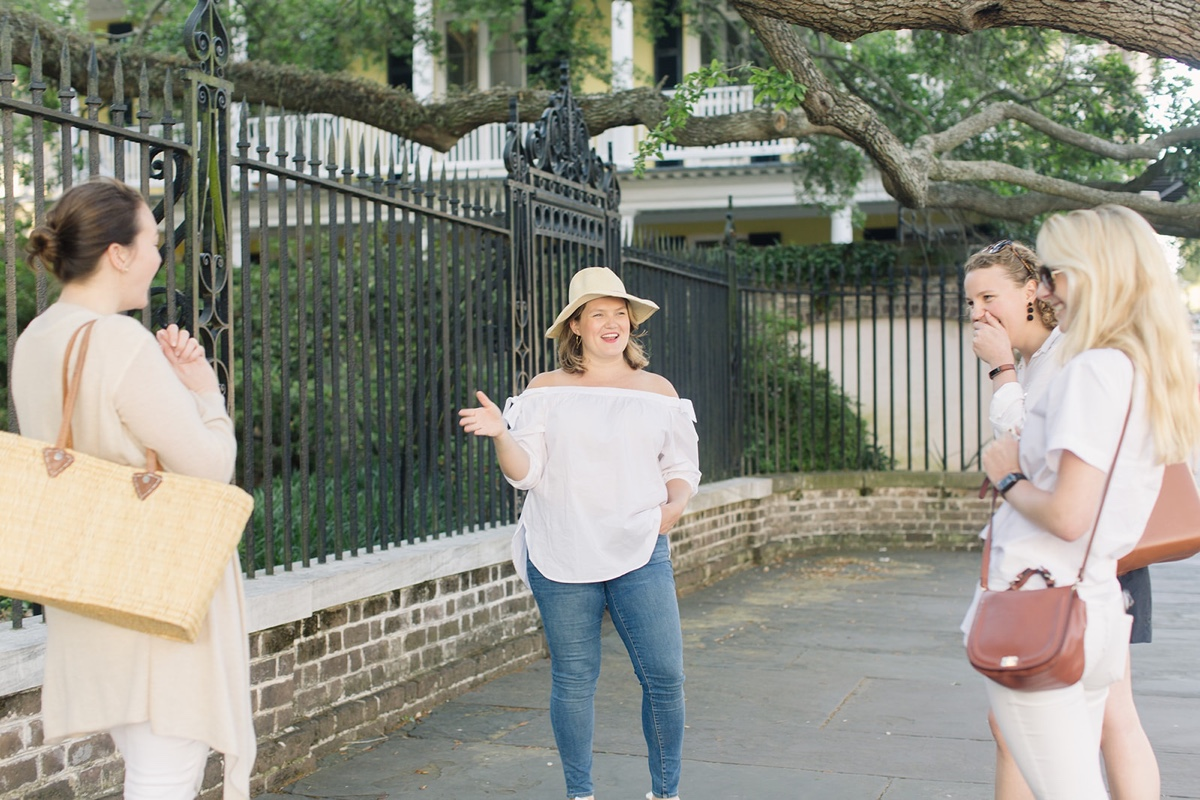 Still in awe of our amazing tour with the Lid Lady. An absolute MUST for your next Charleston visit. Thank you Walk & Talk Charleston for the hilarious stories and fascinating history/ architectural history lessons. I can't wait for my next one! - - Eaddy (New York, NY)