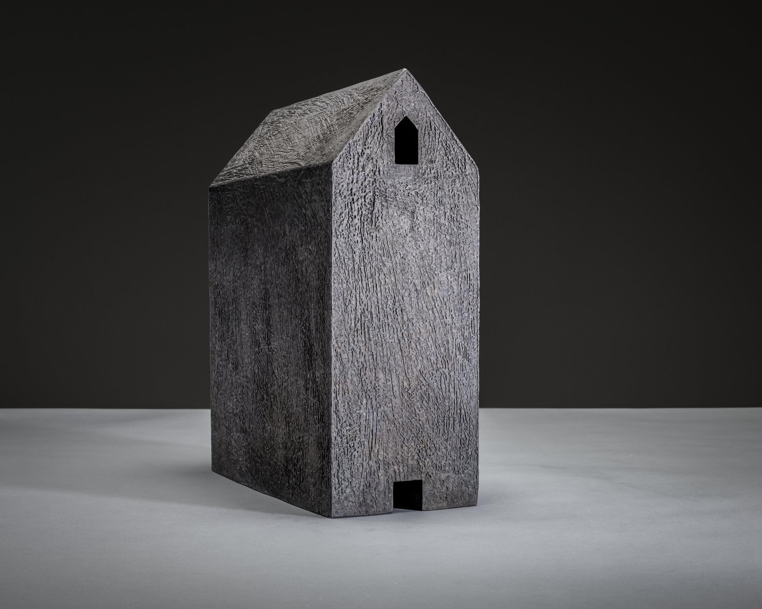 Solo , 14 x 5 ½ x 11 inches, cast bronze, patina