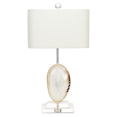 Couture Ocean Side Clam Lamp - $295