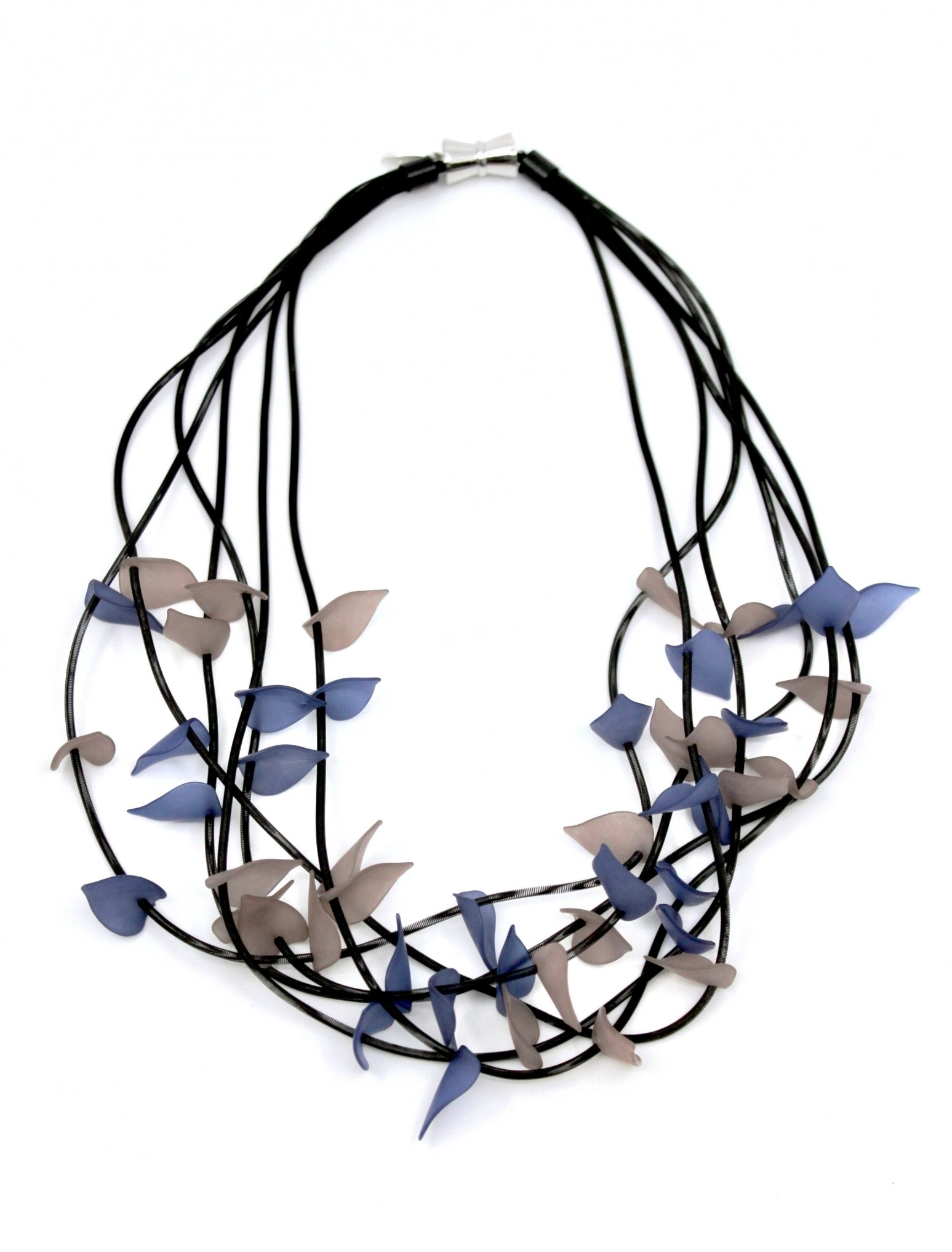 6-Strand Rubber Leaves Necklace