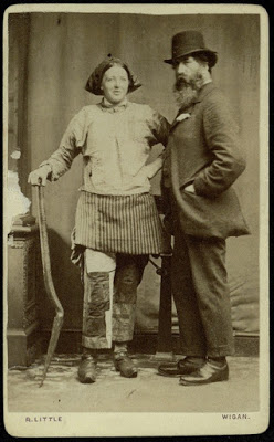 "Arthur Munby with Ellen Grounds, a ""pit brow wench,"" 1873"