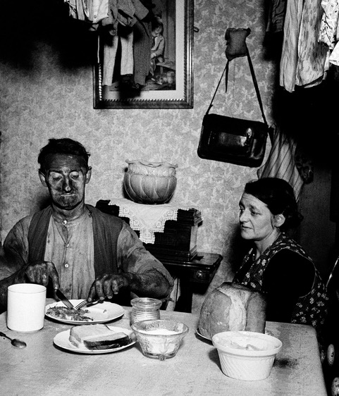 Coal Miner eating supper by Bill Brandt