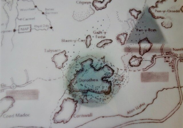 Marged's map of Merched Chwarel's Tal y Sarn walk
