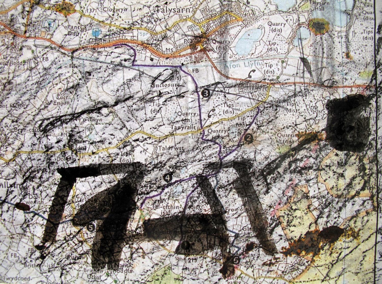 Jwls' map of Merched Chwarel's Tal y Sarn walk