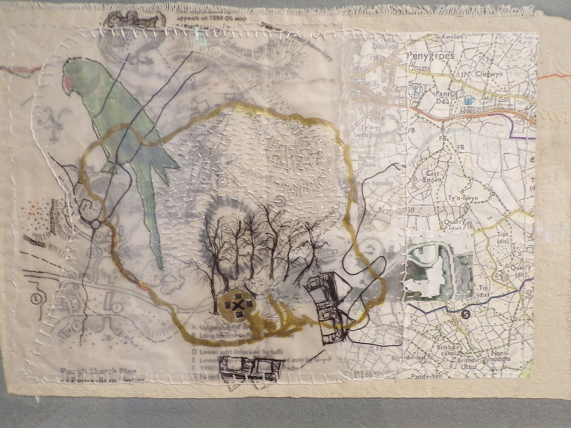 Lisa's map of Merched Chwarel's Tal y Sarn walk