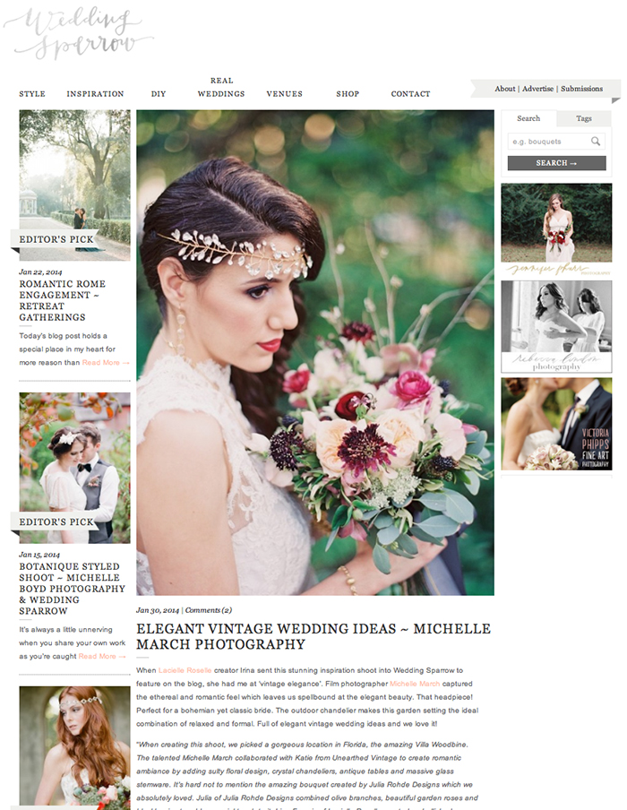 michelle-march-photography-featured-on-published-wedding-sparrow-elegant-vintage-ideas