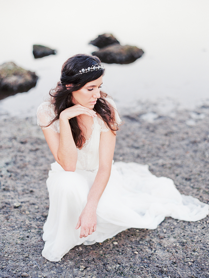 Michelle-March-Photography-Wedding-Photographer-Miami-South-Florida-Vintage-Film-Jenny-Packham-Sea-Ocean-Shells-1