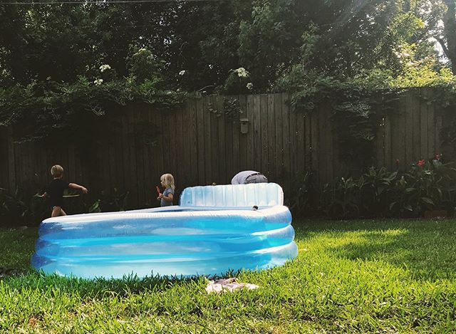 It's not summer until the inflatable pool comes out.