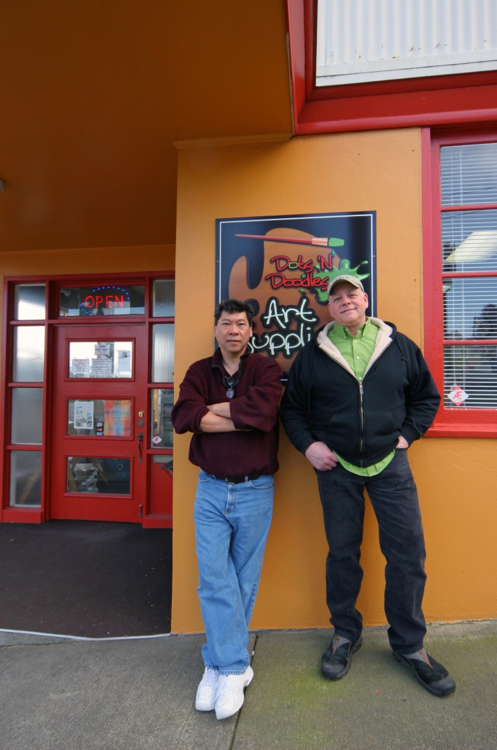 Scoot Leahing and Tim Masuelli, Owners Dots 'N Doodles