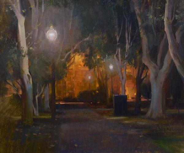 "John P. Lasater ""Pathway Through the Sycamores"""