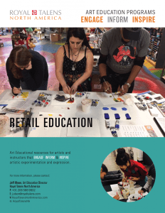 Art Education - Retail Education