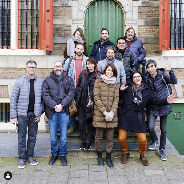 Royal Talens ambassadors in front of the Rembrandt House Museum