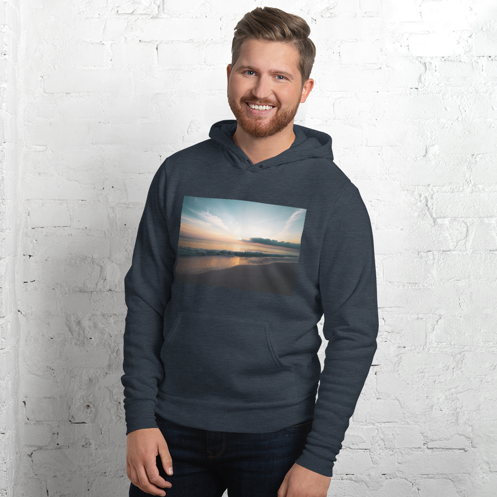 Stay Cozy All Year Long with this Sunset Pullover Hoodie - Go from Winter, to cool nights on the beach