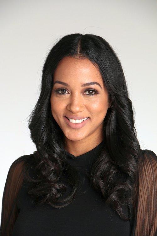 Female model Headshot in black shirt