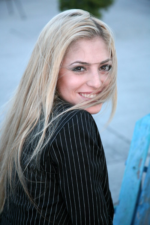 Female model Headshot in black blazer