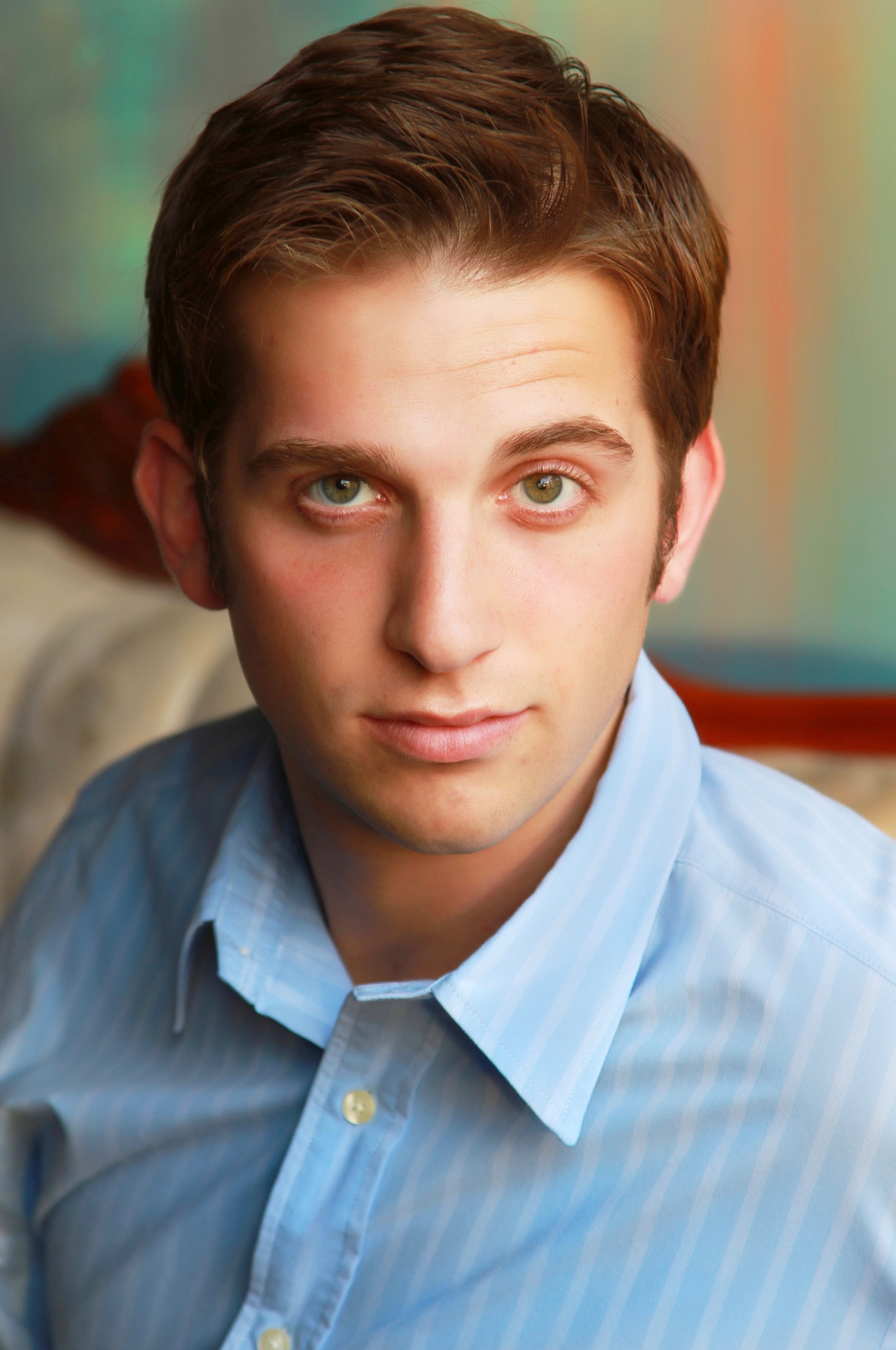 Male model Headshot in button up shirt