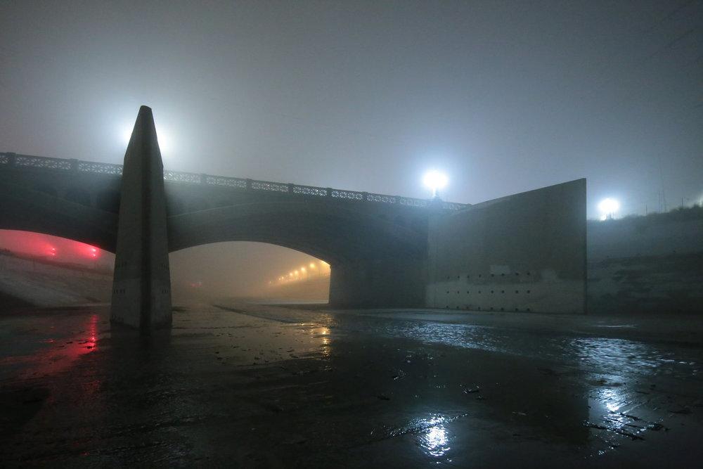 Ominous pylons loom at the North Main bridge