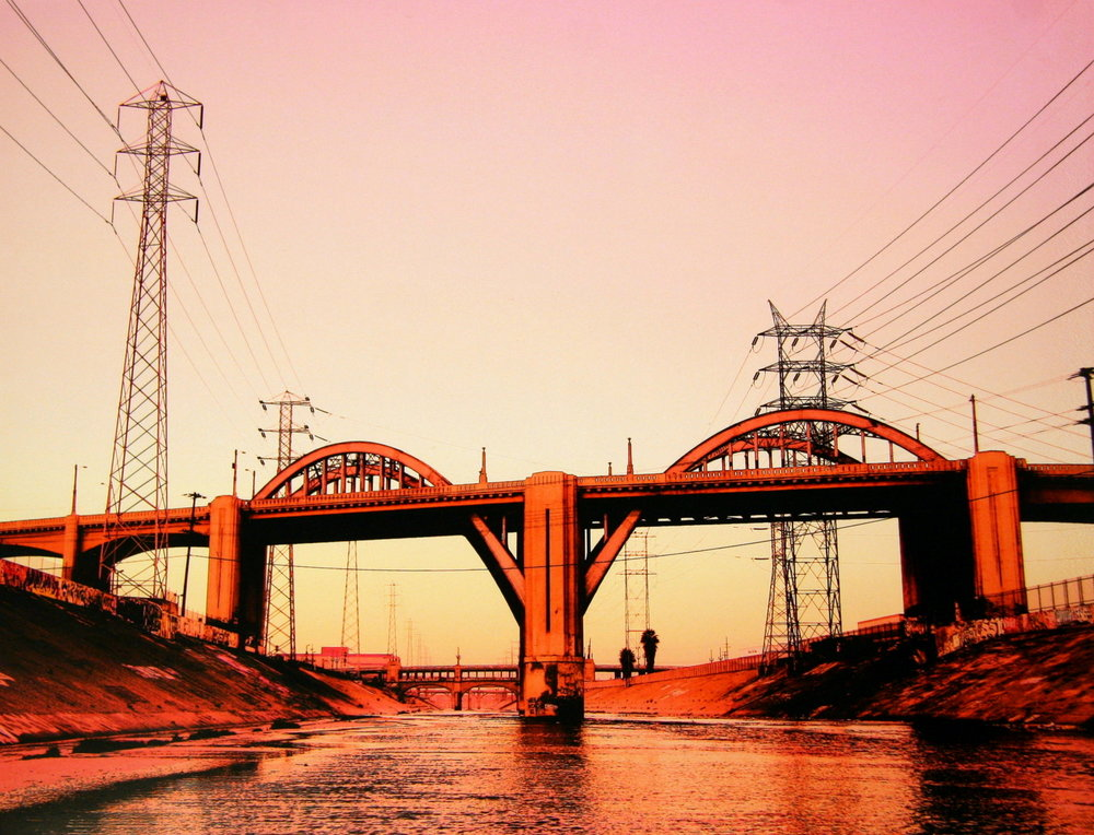 Before dawn at 6th Street bridge