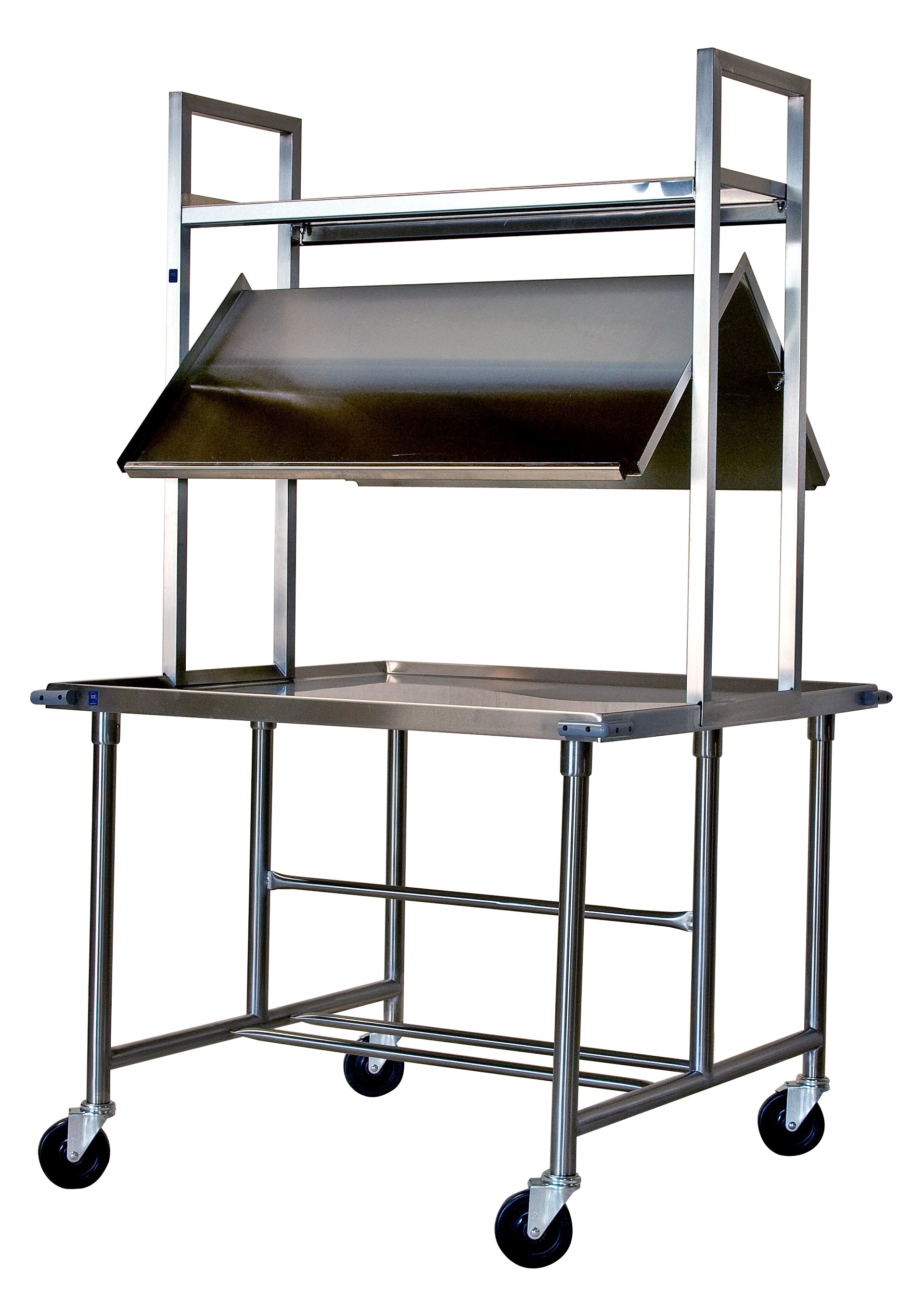 Stainless steel cafeteria food service cart