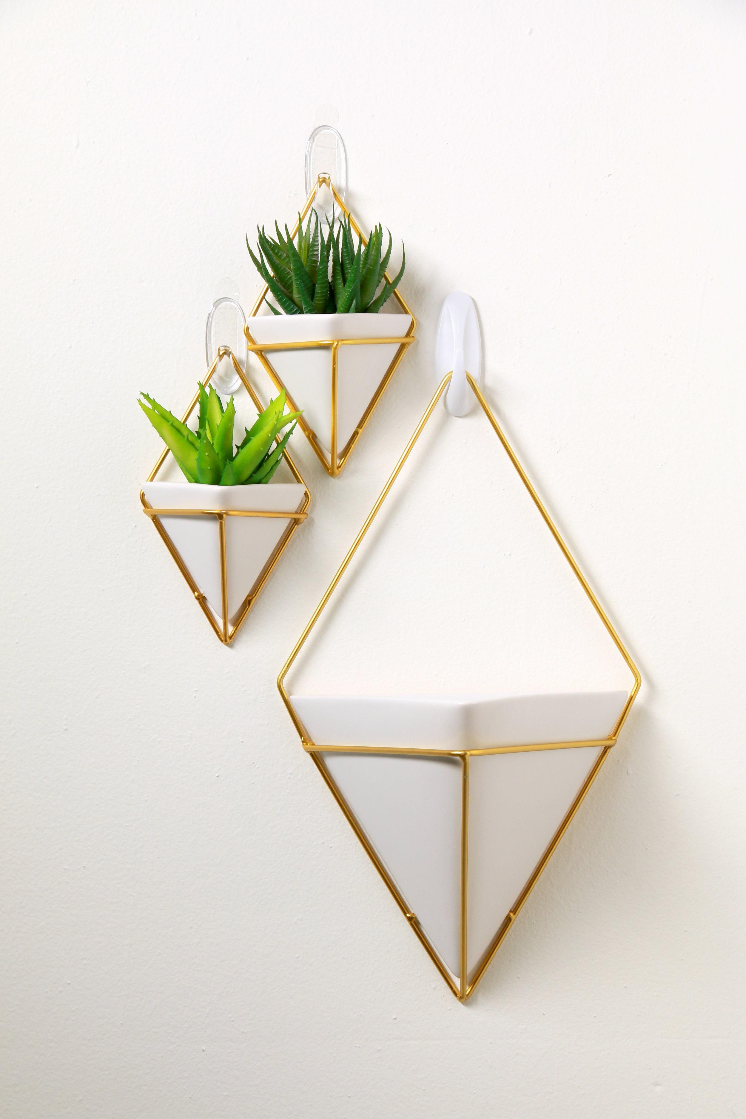 Decorative triangle shaped pot