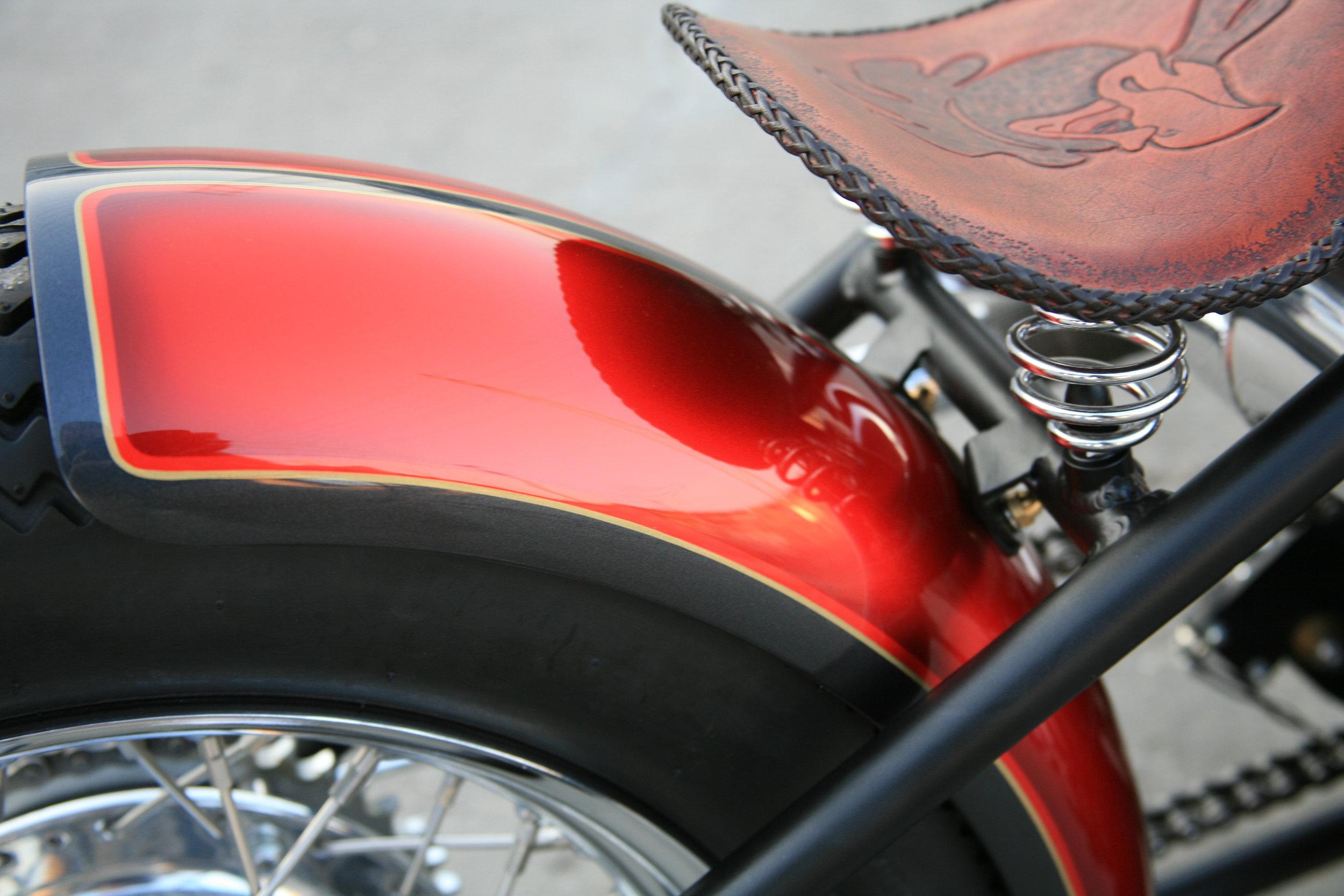 Back end of custom chopper