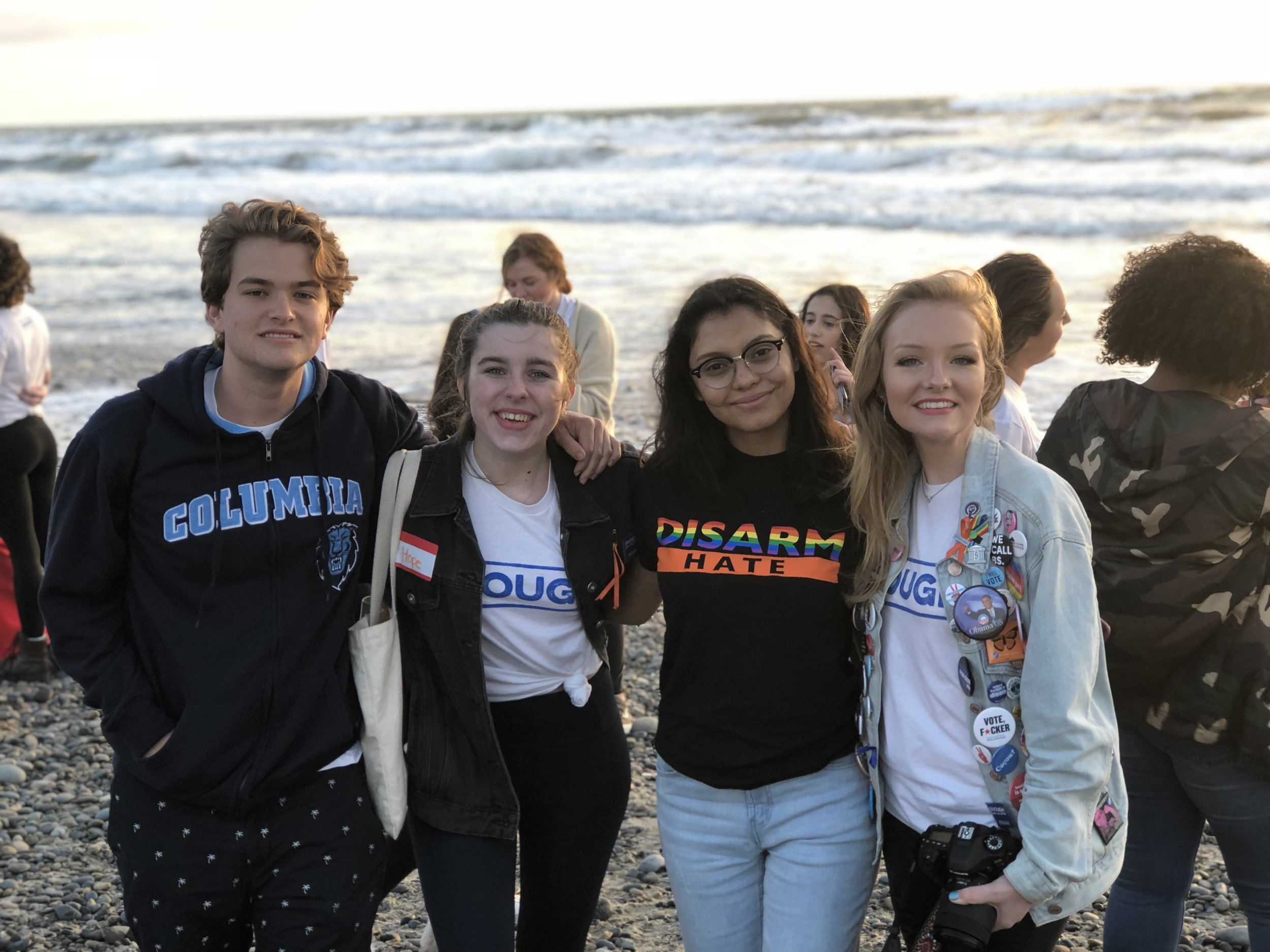 Kaylee (far right) at the Team ENOUGH summit in San Diego in 2018.