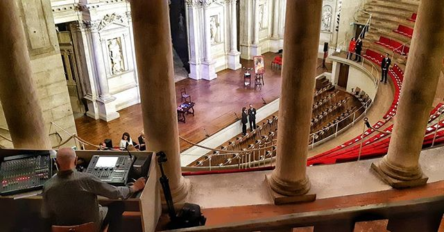 Command Center!  #LightDesigning #Theater  #mascheradoro2019  #Palladio #Scamozzi #SetDesign