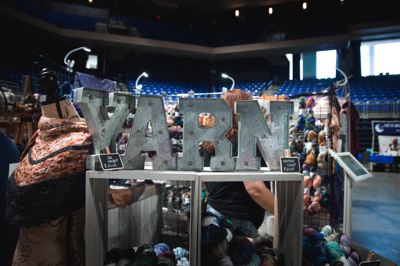 Savvy Skeins booth at Houston Fiber Fest