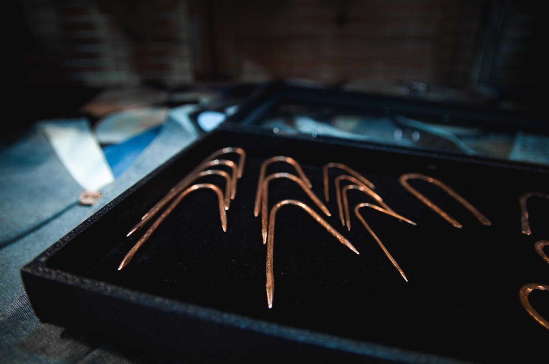 Mr. Carnival's copper cable needles