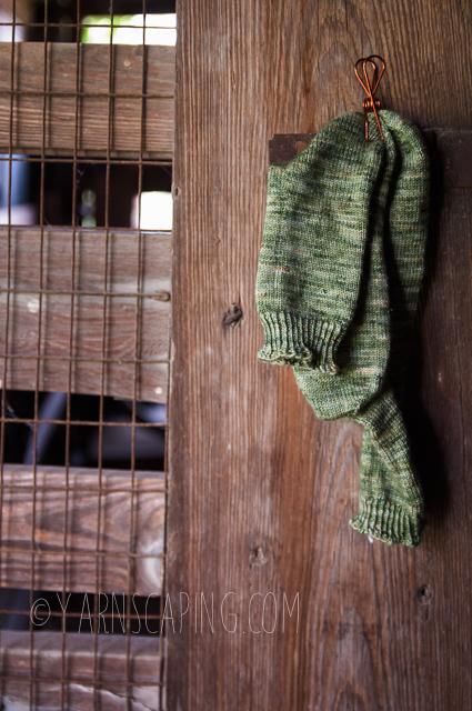 "Vanilla Socks; Yarn by  Madeline Tosh  in ""Venti Dragon Mocha"" on Euro Sock"