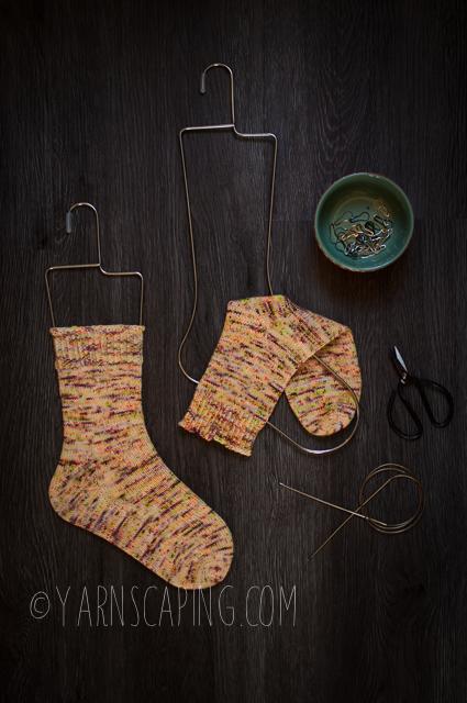 """Vanilla Socks; Yarn by  LolaBean Yarn Co  in """"Bananarama"""""""