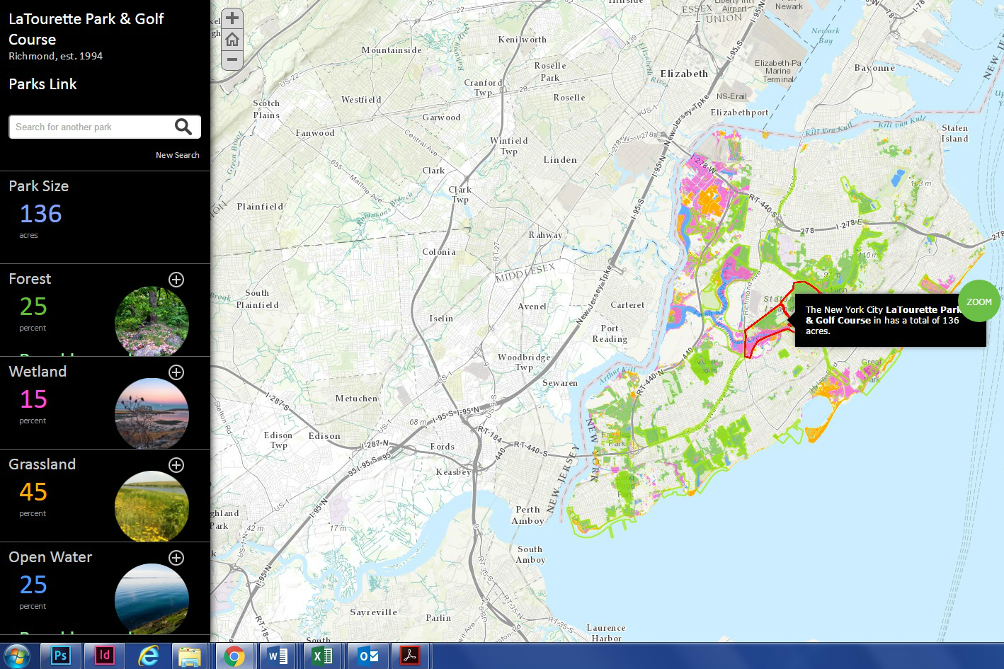 Really spectacular  interactive map  of natural areas in New York City, courtesy of The Natural Areas Conservancy. Hover and click to discover the types of plant and animal species, including those that are rare or threatened, in 51 different city-owned parks.The Natural Areas Conservancy works in partnership with NYC Parks to champion 20,000 acres of city-owned forests and wetlands for the benefit and enjoyment of all. They promote nature's diversity and resilience across the five boroughs.  Click through for website.