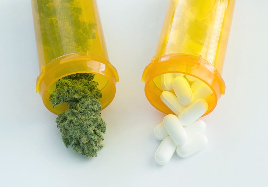 Prescription marijuana and prescription opioids.