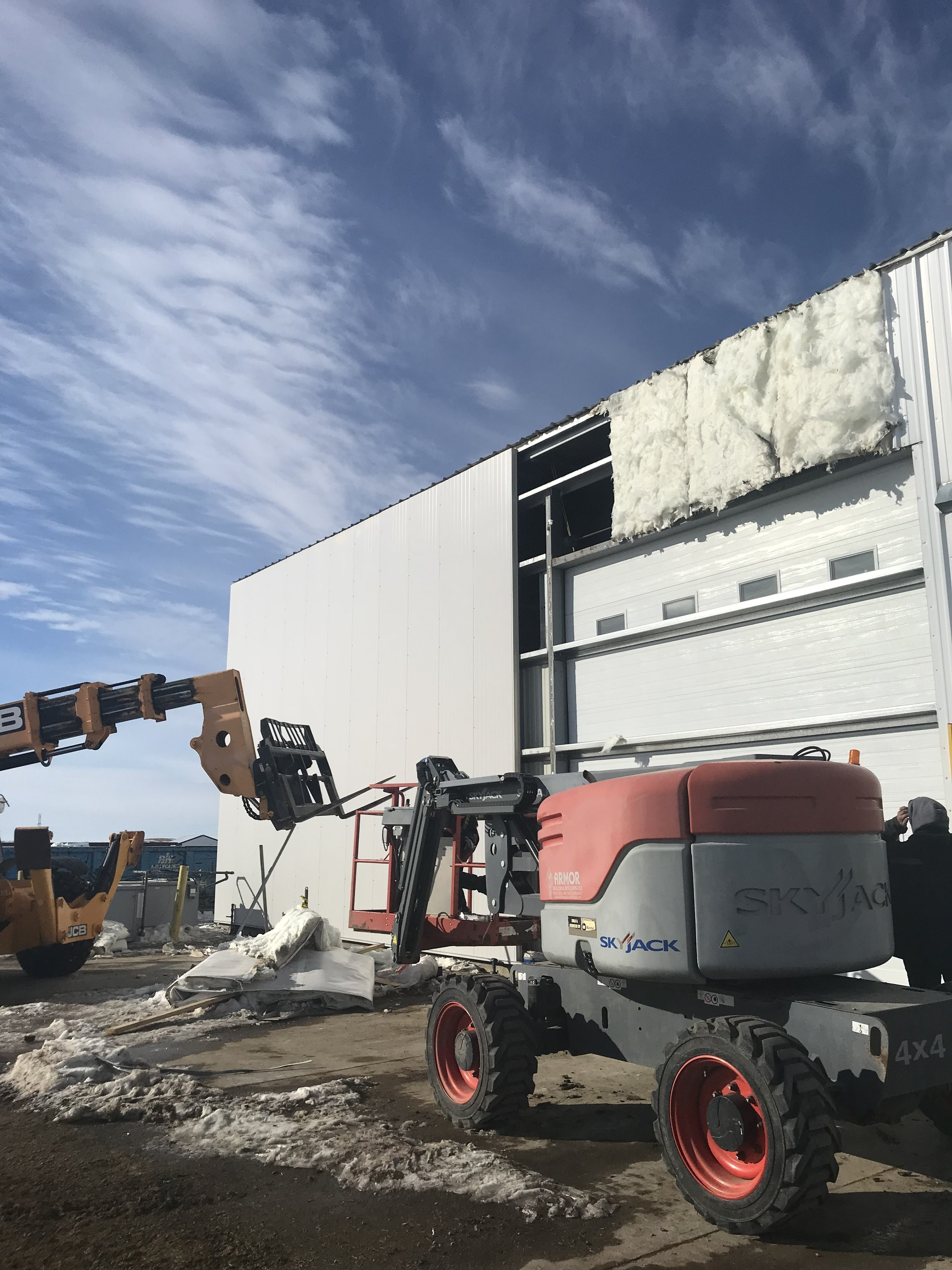 East exterior wall panel replacement