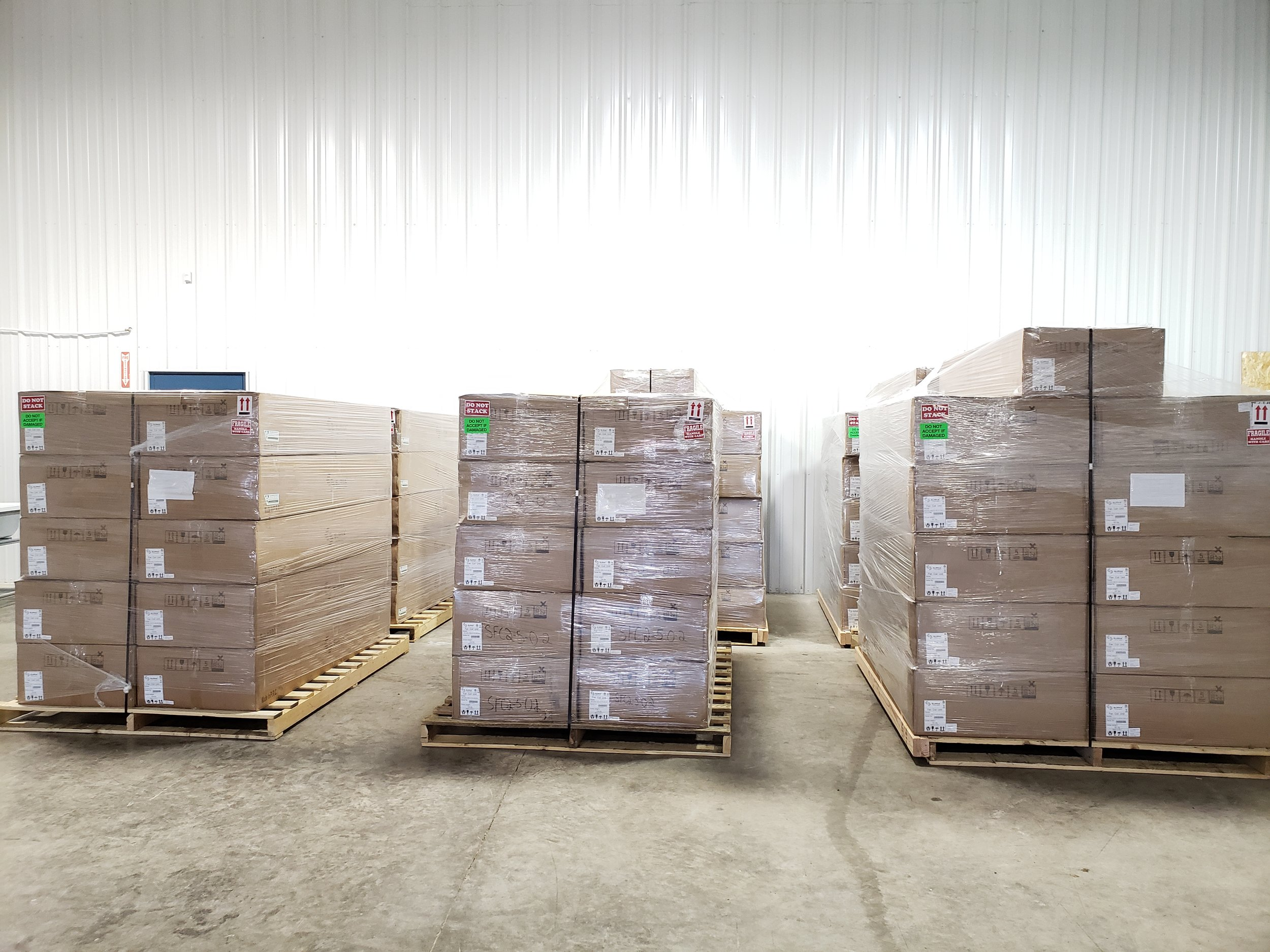 Grow room equipment delivered