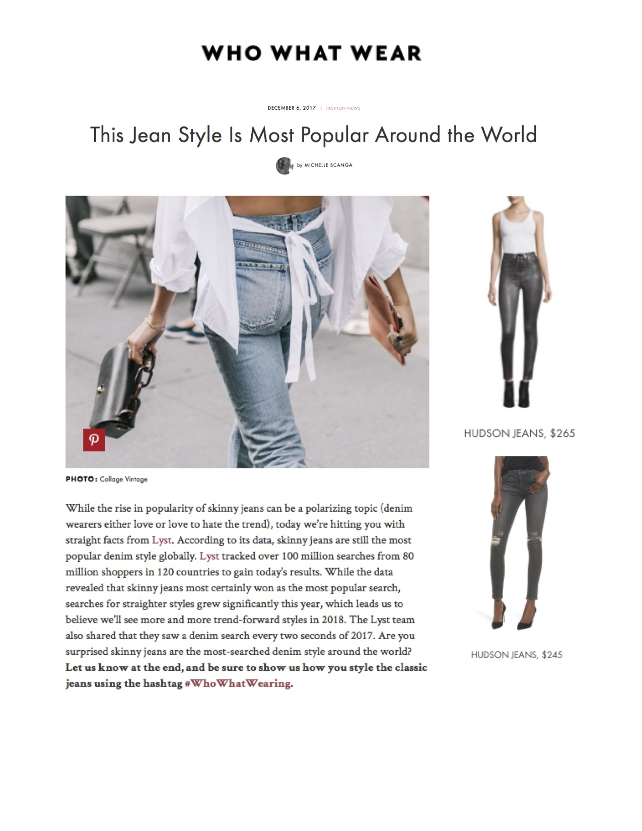 Who What Wear - Popular Jeans Around The World - Hudson.jpg