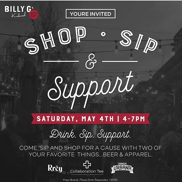 Join us on May 4th!! Shop. Sip. Support. 🍺🙌