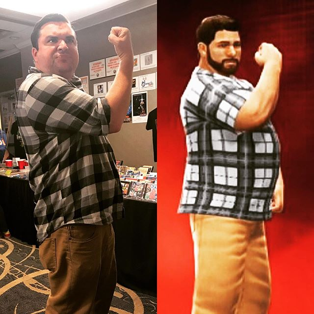 My avatar didn't win the #dementiasmackdown, but he lasted longer than I would have! @the_fump. . . . . . . #wrestling #3d #fumpfest2019 #avatar #smackdown #outfit #matching #comedy #music #comedymusic #chicago #fump #party #floridaman #kazoology
