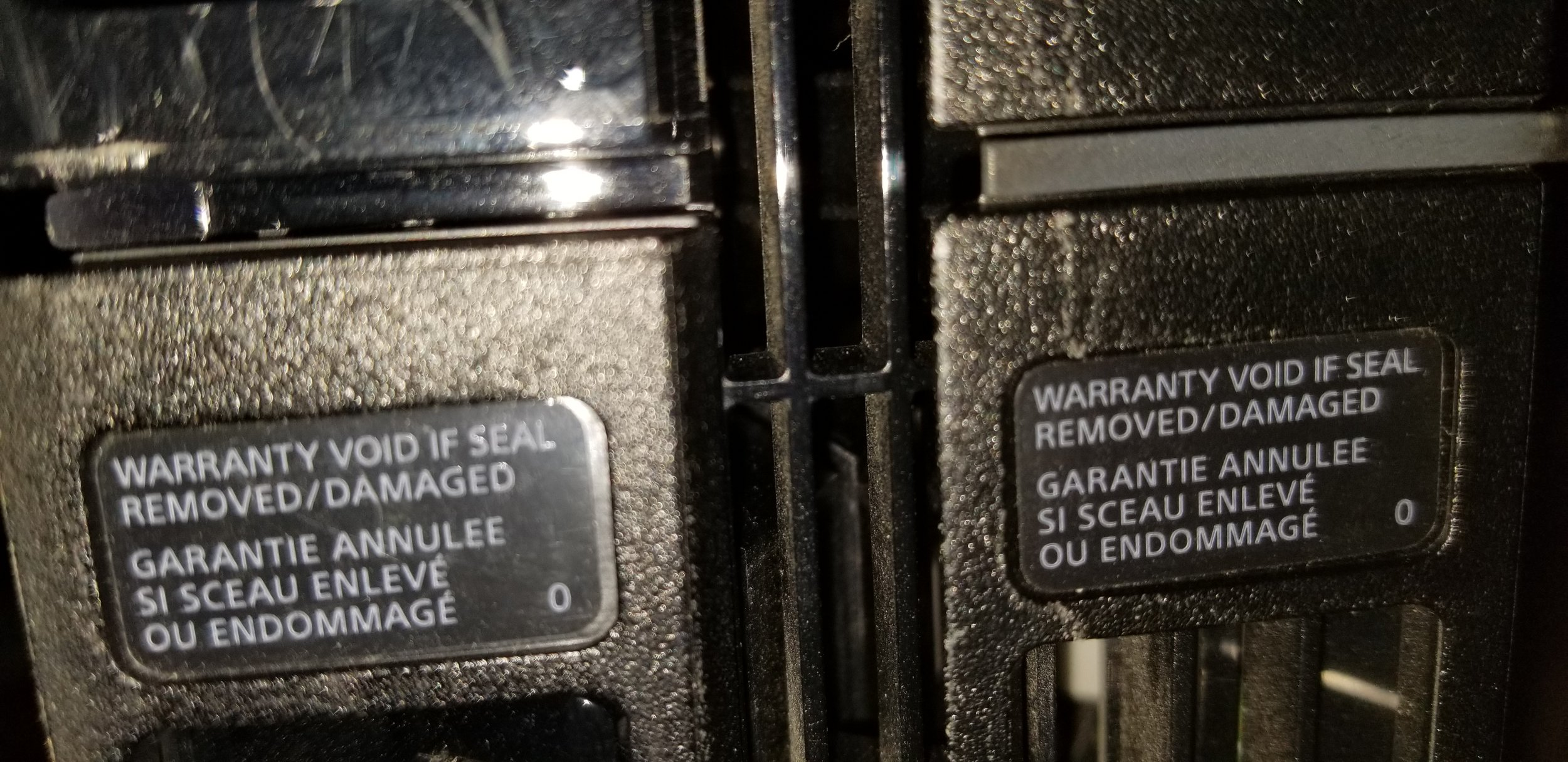 My PlayStation® 4 warranty stickers